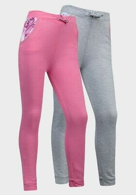 Minoti Girls Children's Kids Skinny Fit Jogging Pants Bottoms Pink Grey 4 5 6 8