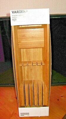 IKEA VARIERA Bamboo Drawer Knife Utensil Kitchen Holder Marcus Arvonen -NIB