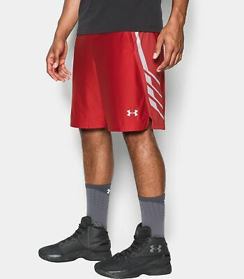 Under Armour Men/'s UA Heatgear Loose Shorts 1248187-600 Red White Size L NWT