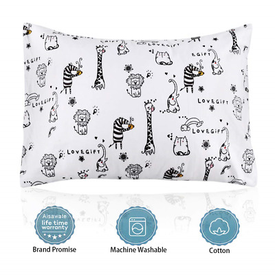 Toddler Pillow with Pillowcase,Aisawate 13X18 Soft Cotton Kids Pillows,Washable