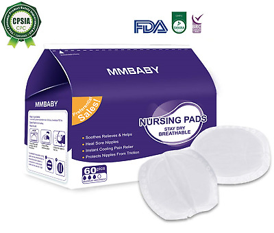 MMBABY Nursing Pads,Packs of 60 Stay Dry Disposable Breast Pads, Excellent Leak