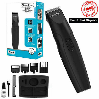 Wahl GroomEase Men's Stubble and Beard Trimmer Battery Powered Shaver Groom Kit