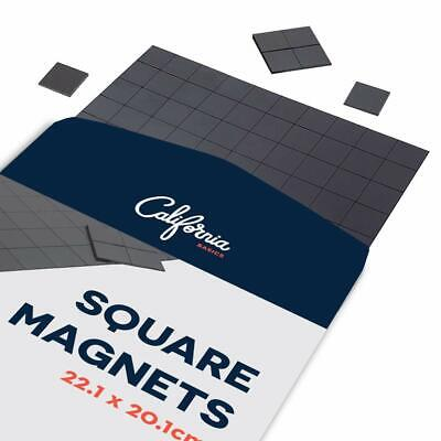 Adhesive Stick On Magnets Squares 110 pcs Sticker Magnets, 22x20cm Square