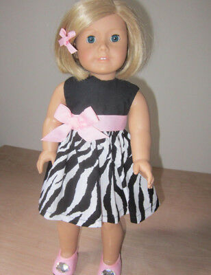 """Doll clothes Pink Shoes and Black and White Dress fit American Girl & 18"""" Dolls"""