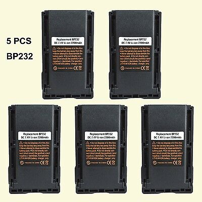 5X BP-232 Li-ion Battery for ICOM F3013 F4013 F3021 F4021 Handheld