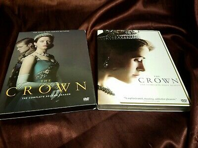 The Crown: Complete Season 1-2  (DVD, 7-Disc) Near new! ships fast!