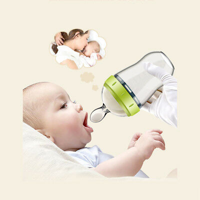 Silicone Baby Rice Pacifier Weaning Squeezing Feeding Spoon Kids Gruel Feeder