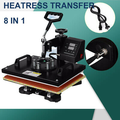 8 in 1 Heat Press Transfer Machine Mug Hat Cup Sublimation Printer Printing AU