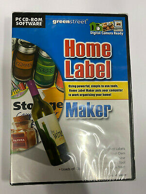 PC CD Rom Software Media Label Maker