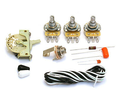 """Noiseless"" 5-way Wiring Kit for USA Fender Stratocaster/Strat® WKS-NSLS"