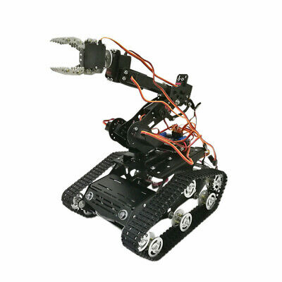 6DOF WiFi Arduino Smart Robot Tank Chassis With Arm Clawer 7 Servos