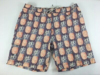 1af03d7003 Tommy Bahama Relax Pineapple Print Swim Trunks Board Shorts Men's Size XXL  LINED