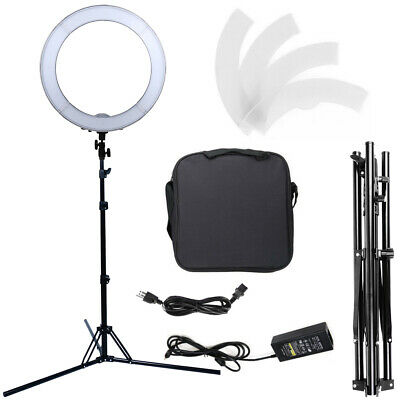 18'' Dimmable SMD LED Ring Light Lighting Kit with Light Stand & Color Filters
