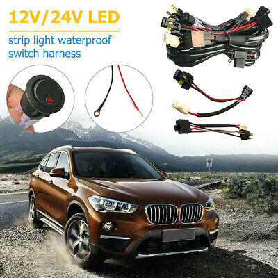 Auto Dual Car LED Driving Light Wiring Loom Harness High Beam Kit For Narva LLA