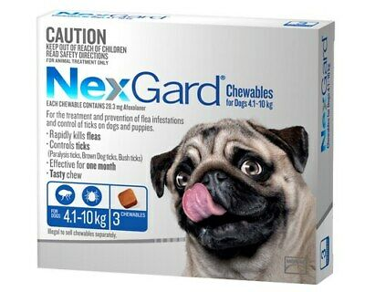Nexgard Blue 3 for Small Dogs 4.1 - 10 kg 3-Pack Nexguard Flea & Tick Chewable