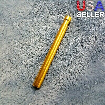 Small Gold One Hitter Pen Smoking Pipe Tobacco Herb Portable Metal Pocket Size