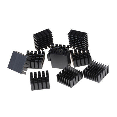 10 Pcs 20x20x10mm Heat Sink Heatsinks Cooling Aluminum Radiator 9H