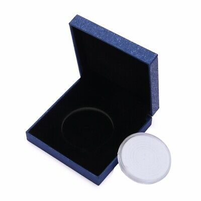 Medal Coin Case Presentation Box Display Holder Single Capsule Blue Gift AU