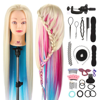"Neverland Beauty 26"" 100% Synthetic Fiber Hair Hairdressing Training Head Doll +"