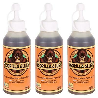 Gorilla Glue Waterproof For Indoors And Outdoors Use 250ml Pack of 3