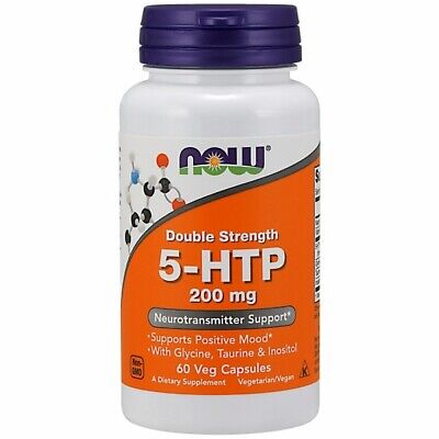 5-HTP 60 Vcaps 200 mg by Now Foods