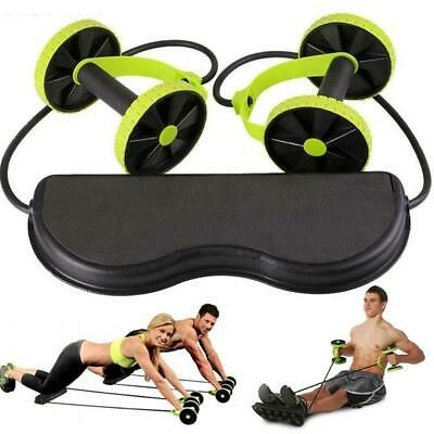 Abdominal Power Waist Slimming Exerciser Roll Trainer Core Double Fitness Wheel