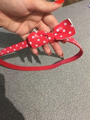 Red And White Spotty Girls Belt Age 2-3 Years Minnie Mouse