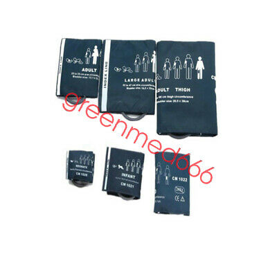 6 PCS Blood pressure Cuffs For Vital Signs Patient Monitor ECG EKG Machine Type