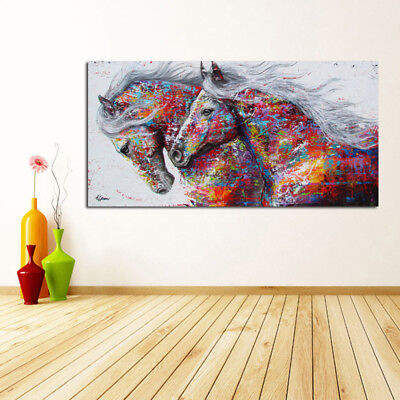 Modern Horse Canvas Print Art Oil Painting Wall Picture Home Decor Unframed 1x