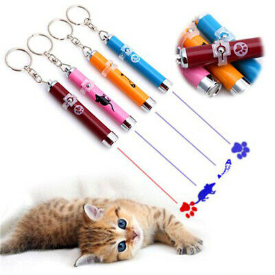 Pet LED Laser Cat Pointer Pen Teaser Kitten Fish Mouse Paw Interactive Toy Lates