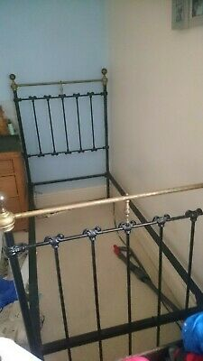 Victorian bed original cast iron refurbished single Seventh Heaven