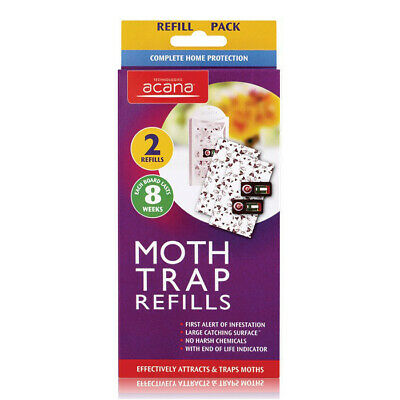 Acana Moth Monitoring Trap Station Pack of 2 Refills Last 8 Weeks Attacts Cloths