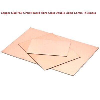 1pcs Copper Clad PCB Circuit Board Fibre Glass Double Sided 1.5mm Thickness