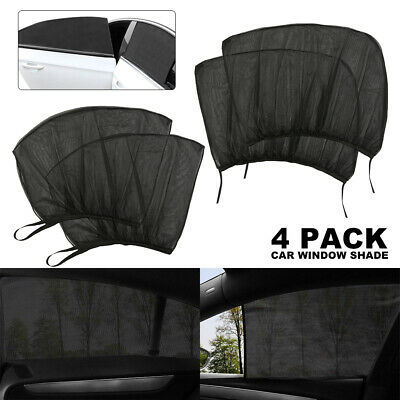 4Pcs Auto Sun Shade Front Rear Window Screen Cover Sunshade Protector For Car CA