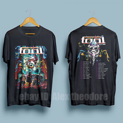 TOOL Band 2019 Tour Tee with dates Men's Black T-Shirt Size S-XXL