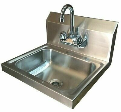 Commercial Stainless Steel Hand Wash Basin with Tap Splashback Included