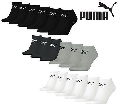 6 Pairs Puma Unisex Cotton Rich Sneaker Trainer Sports Socks