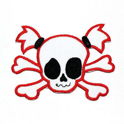 Funny Girl Skull Rock Punk Biker Retro DIY Clothing Jeans jacket Iron on patch