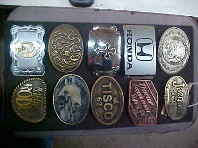 Vintage WESTERN HONDA FISH BIRD AND MORE Belt Buckle Lot OF 10 LQQK LOT 2