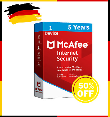 McAfee Internet Security 5 Years 1 PC-Full Version Antivirus INSTANT Delivery