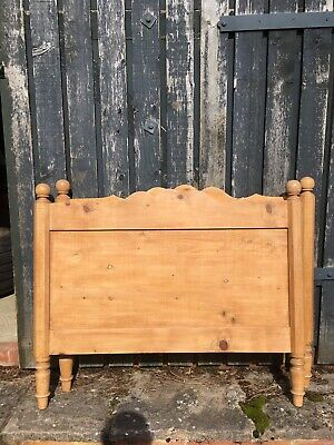A Pair Of Antique Pine Single Bed Headboards.