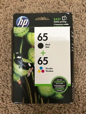Hp Genuine Combo Pack 65 Black/65 Tri Color Ink (Retail Box) 09/2019