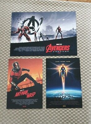 X3 Marvel Avengers Endgame ODEON captain ant-man poster Matt Ferguson Part 2 New
