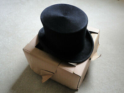 Vintage Top Hat by Gieves of Old Bond Street, with card box perfect for Ascot