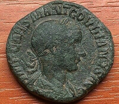 Bronze Coin of Gordian III 238-244 AD AE Sestertius Rome mint Ancient Roman Coin