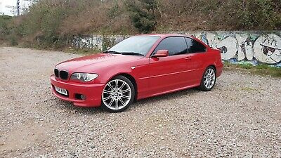 Bmw E46 325ci M Sport Rare Imola Red Manual 5 Speed Facelift