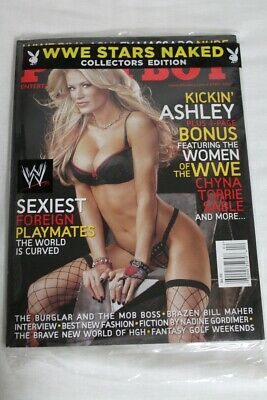 BRAND NEW Playboy magazine April 2007 Ashley Massaro Women of  WWE Chyna...
