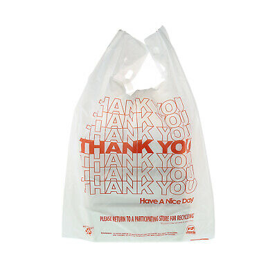 """Royal 13"""" x 8"""" x 23"""" Thank You Bags - 1/6 Thick, 14 Mic, Pack of 1,000, RPTYB6FS"""