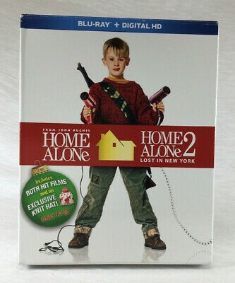 Home Alone 1 & 2 Blu-Ray 2-Disc Set + Digital HD ~ TARGET EXCLUSIVE - Knit Hat