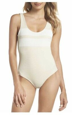 66619a899259e Hurley Quick Dry Block Party One-Piece Swimsuit, Light Cream, Size Medium  NWT